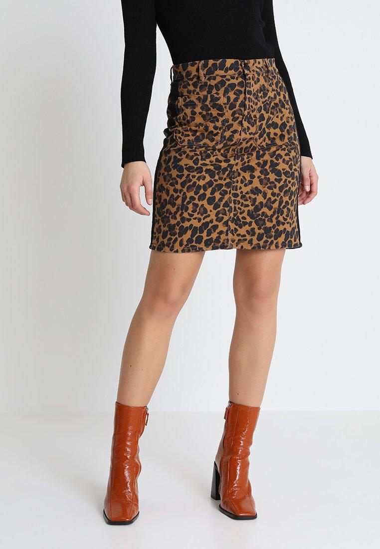 LeopardMinijupe Jupe Harper Leonamp; Camel Courte Jubile Femme lc53uK1JTF