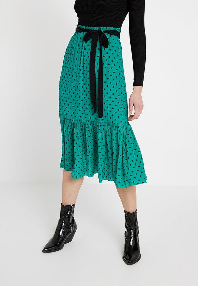 JEANINE - Spódnica trapezowa - emerald