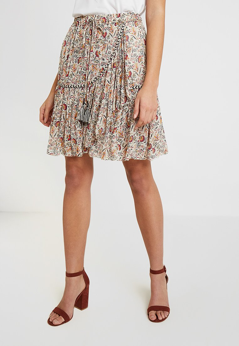 Leon & Harper - JOLLY VEGETAL - A-line skirt - ecru