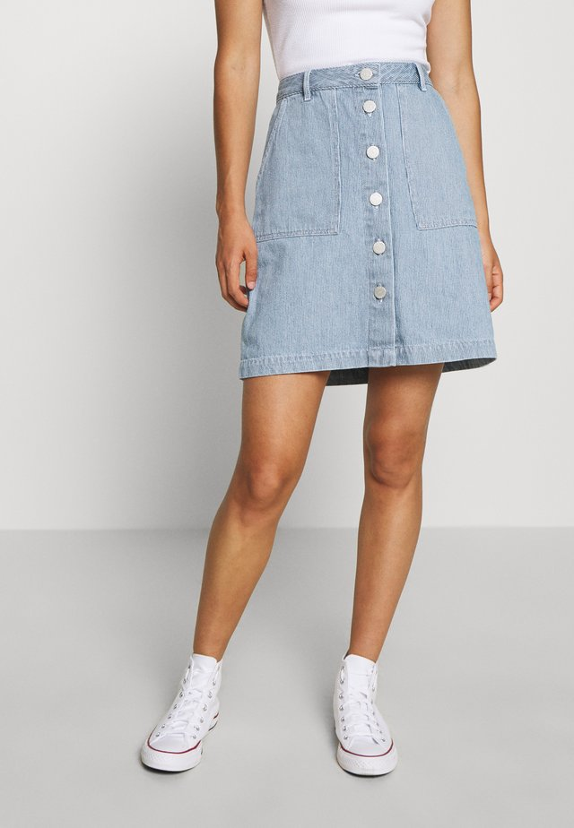 JEUDI BLEACH - A-line skirt - blue