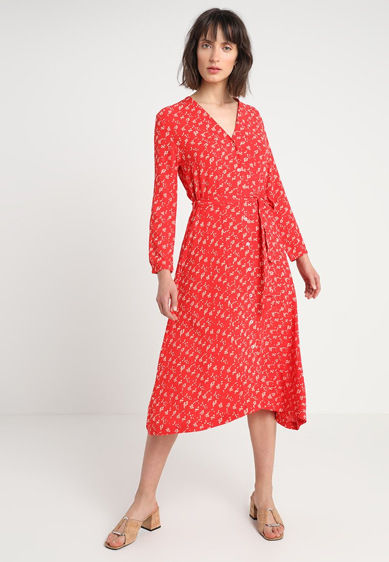 Leon & Harper - RAISIN - Shirt dress - red