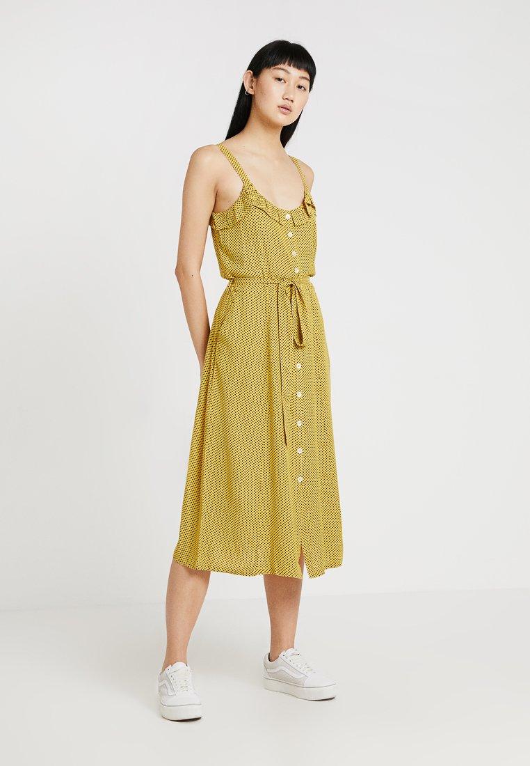 Leon & Harper - RICARDO DOTS - Vestido camisero - yellow