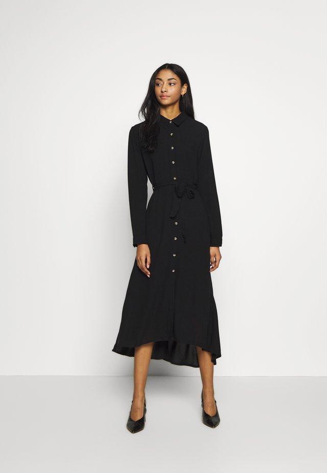 RAMEN PLAIN - Košilové šaty - black