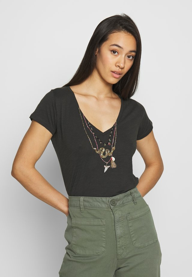 TONTON SNAKE - T-shirt imprimé - carbone