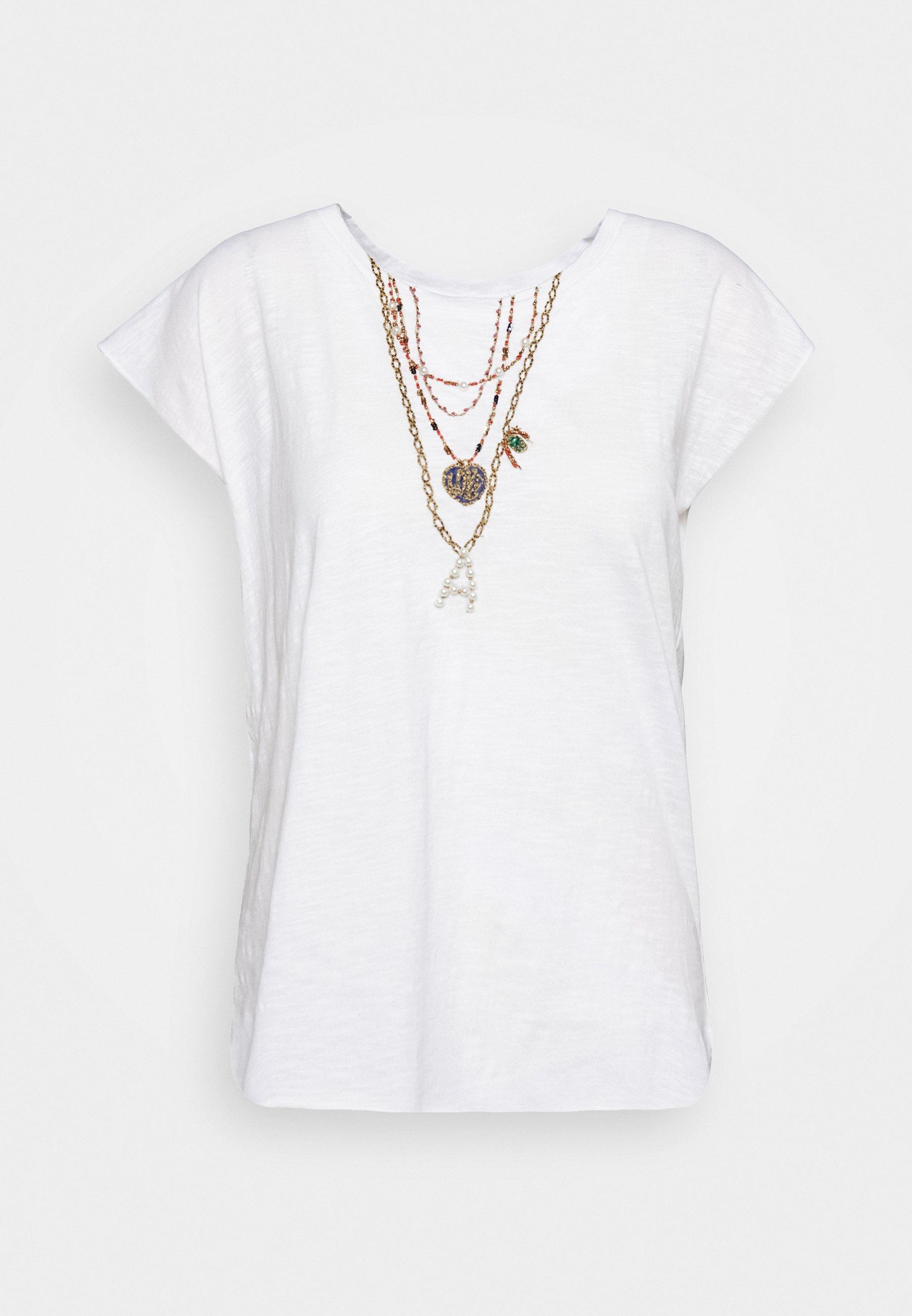 Leon & Harper TOVOU PEARL - T-shirt z nadrukiem - white
