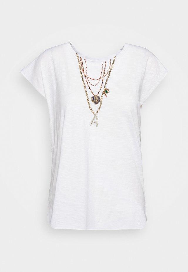 TOVOU PEARL - T-shirts print - white