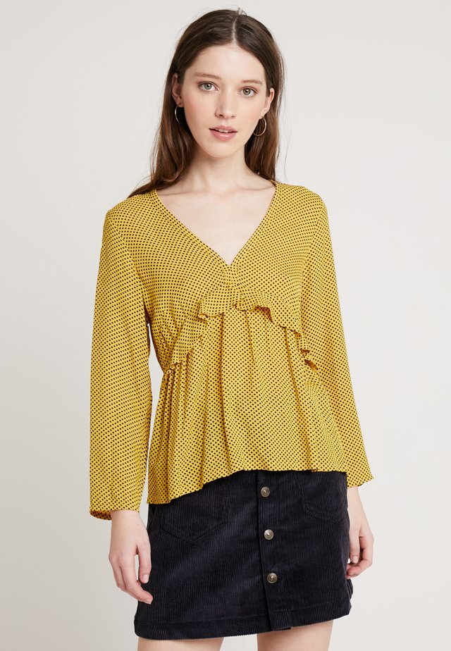 CRISIS DOTS - Bluser - yellow