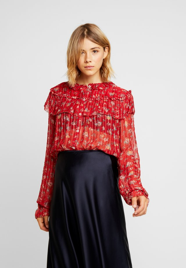 CENDRINE FLORE - Button-down blouse - red