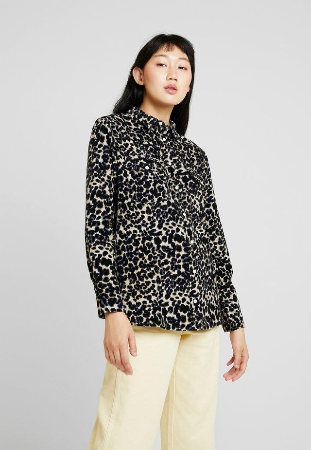 CAMERONE LEO - Button-down blouse - black