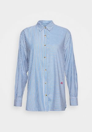 CRIQUETTE STRIPES - Button-down blouse - blue/white