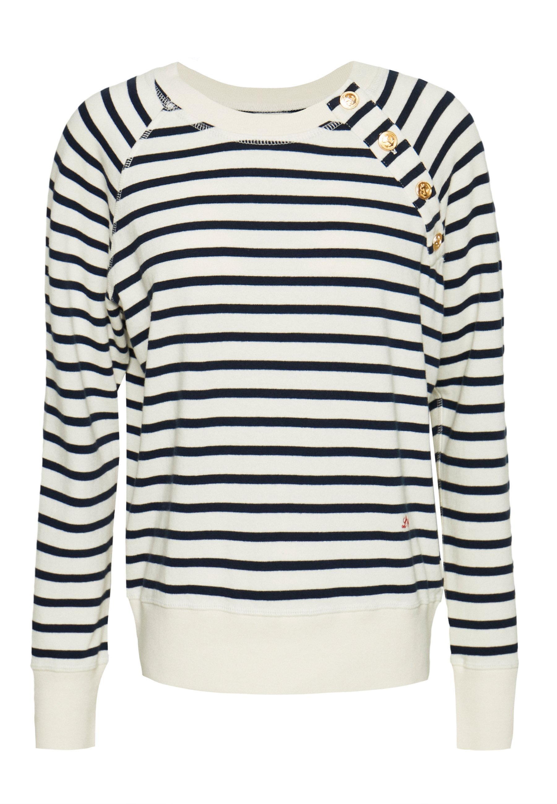 Leon & Harper SATURDAY STRIPES - Maglione - off white/blue