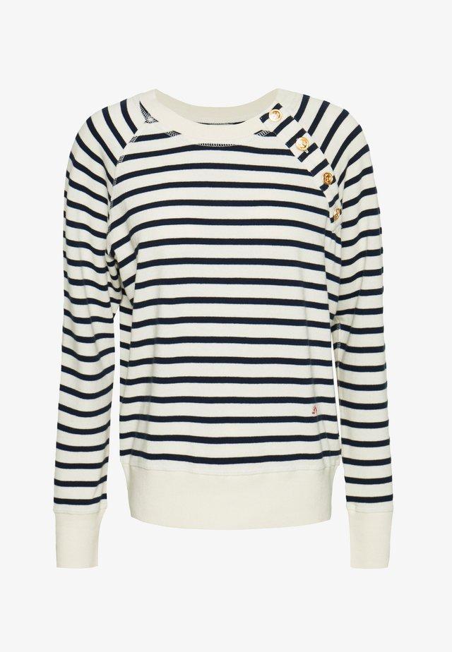 SATURDAY STRIPES - Stickad tröja - off white/blue