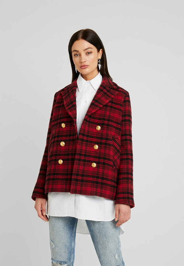 VOLTAIRE CHECK - Summer jacket - red