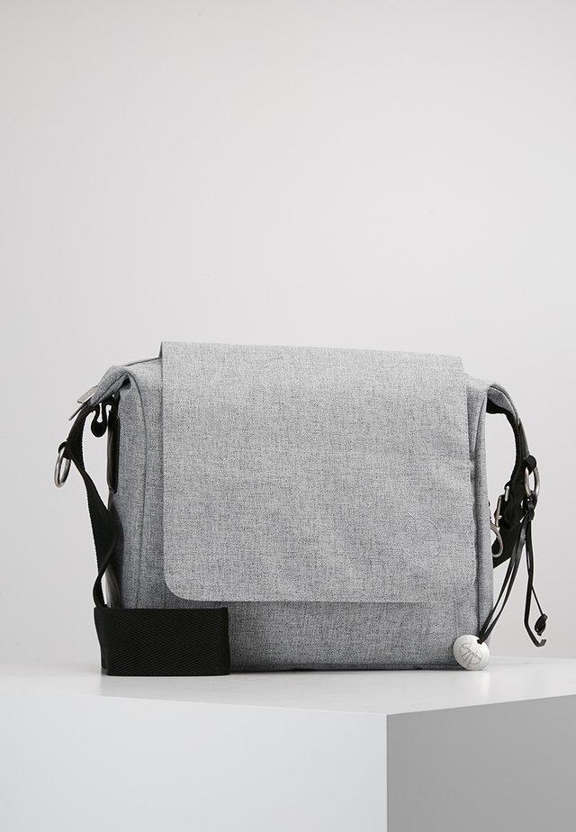 SMALL MESSANGER BAG UPDATE - Baby changing bag - black melange