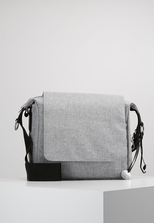 SMALL MESSANGER BAG UPDATE - Wickeltasche - black melange