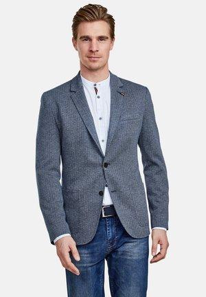 MIT FISCHGRATMUSTERUNG - Blazer jacket - vintage blue