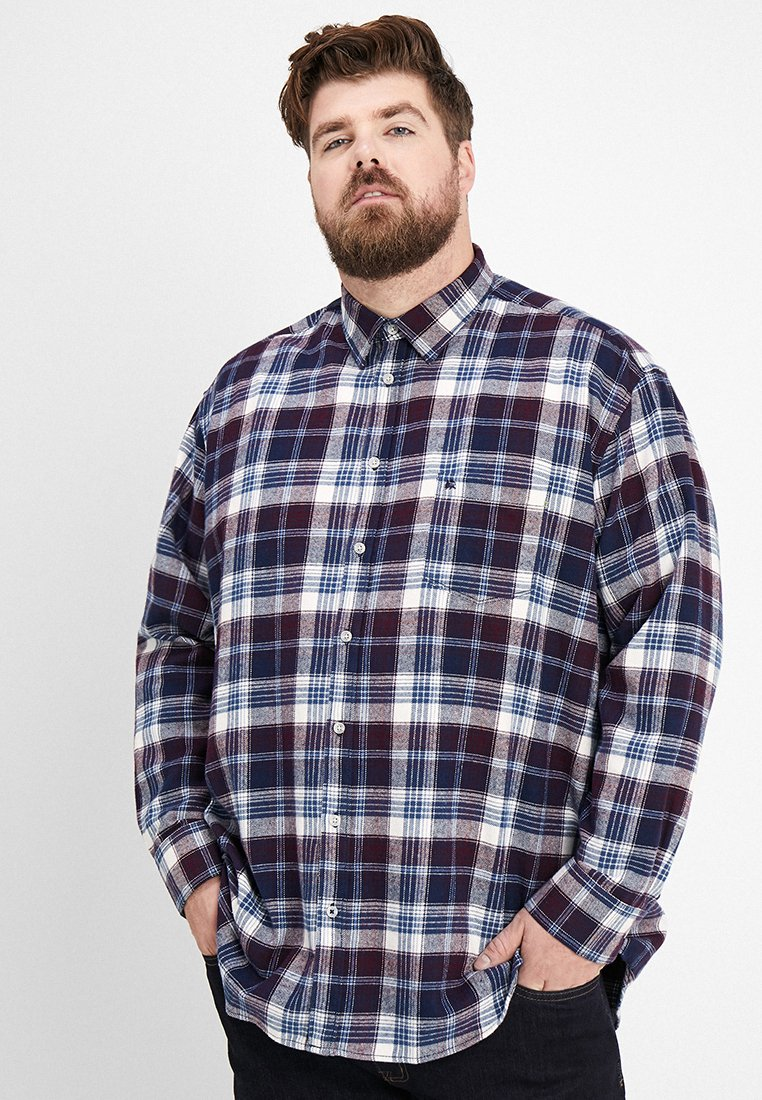 LERROS - KENT CHECK - Shirt - bordaux