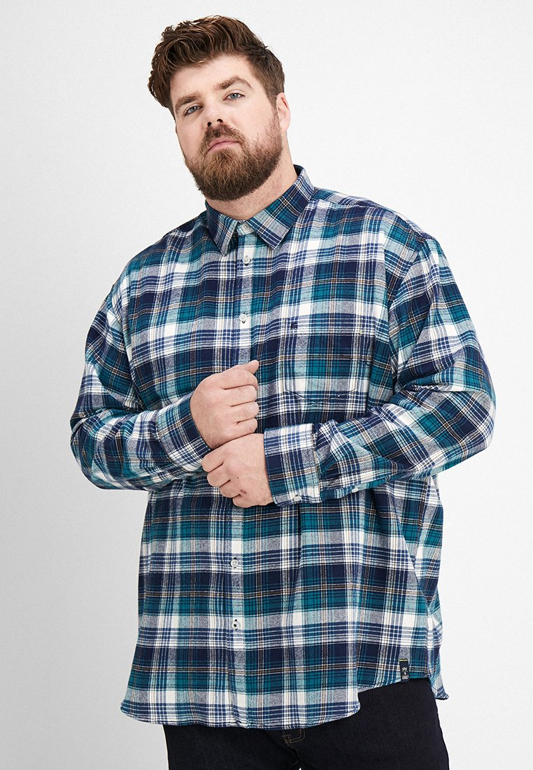 LERROS - KENT CHECK - Hemd - turquoise