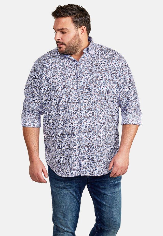 MIT MINIMAL-MUSTERUNG - Shirt - garnet