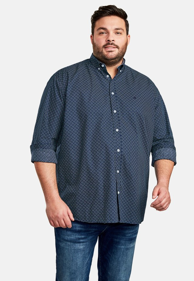 MIT ALLOVERDRUCK - Shirt - navy