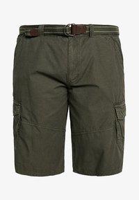 LERROS - CARGO - Shorts - dark green - 4