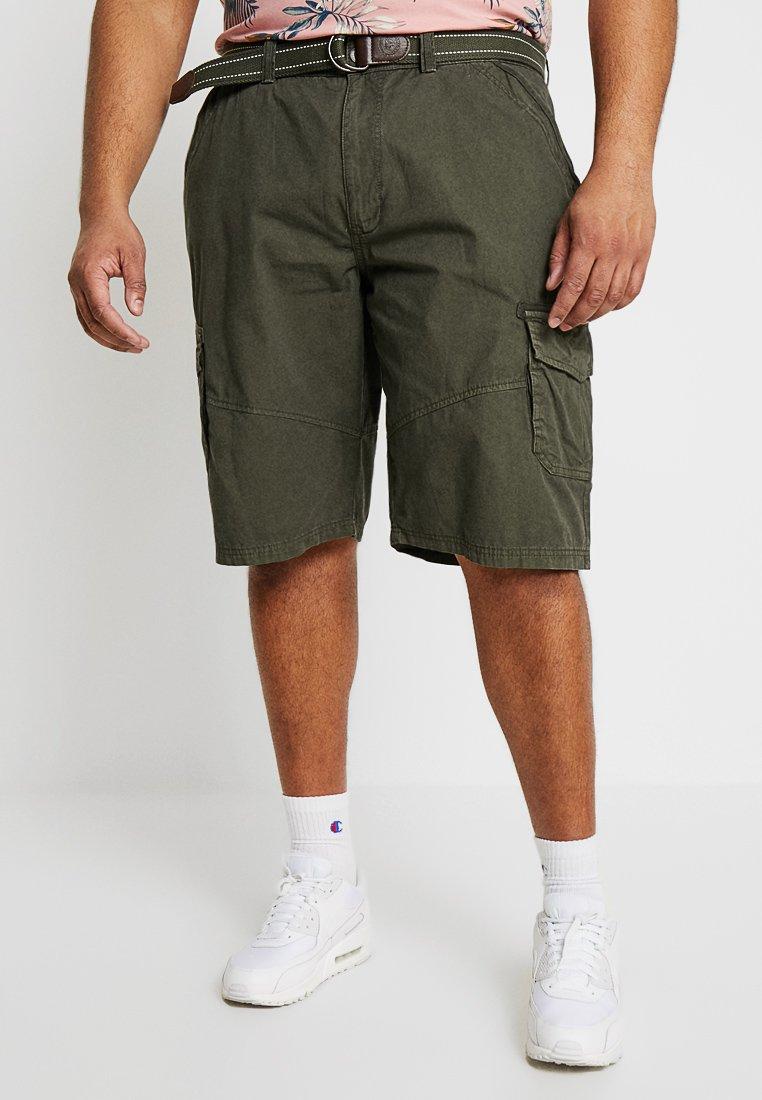 LERROS - CARGO - Shorts - dark green