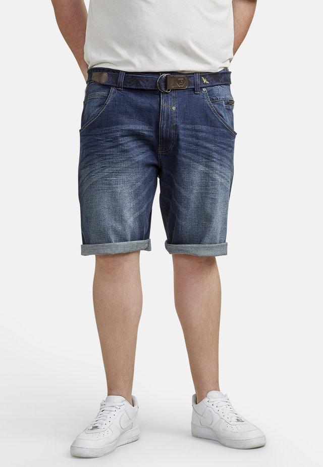 BERMUDA - Denim shorts - night blue