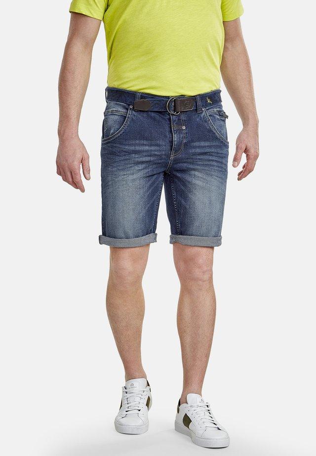 Denim shorts - night blue
