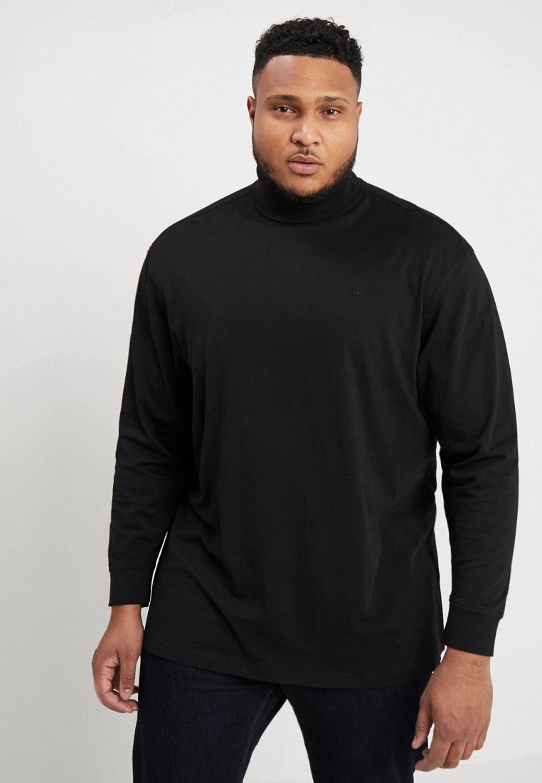 LERROS - ROLLNECK - Long sleeved top - black