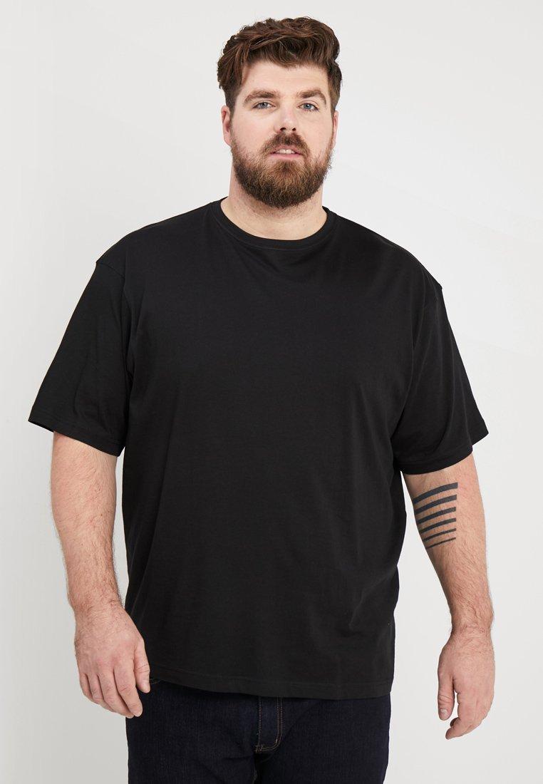 LERROS - RUNDHALS 2PACK - Basic T-shirt - black