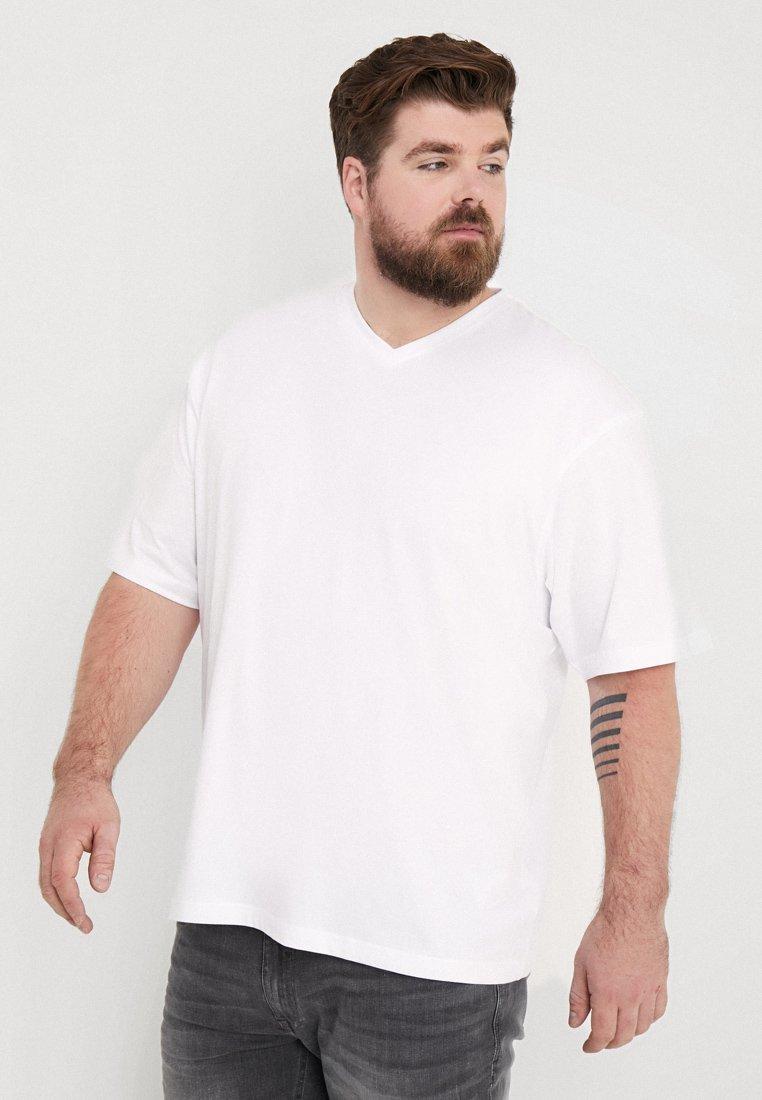 LERROS - V-NECK 2 PACK - T-Shirt basic - white