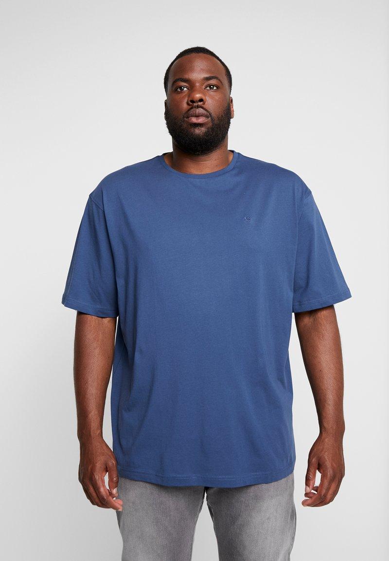 LERROS - UEBERGROESSE - Basic T-shirt - storm blue