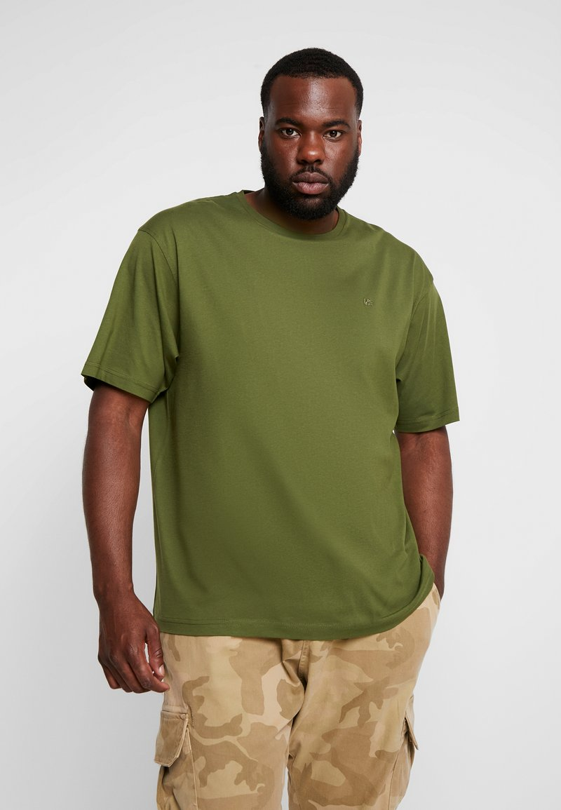 LERROS - UEBERGROESSE - Basic T-shirt - moss green