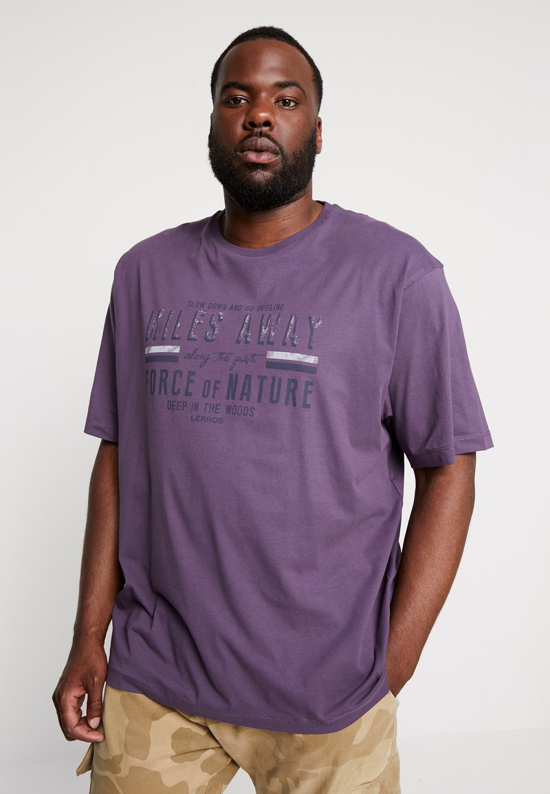 LERROS - O-NECK - T-Shirt print - autumn grape