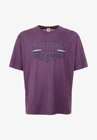 LERROS - O-NECK - Print T-shirt - autumn grape - 3