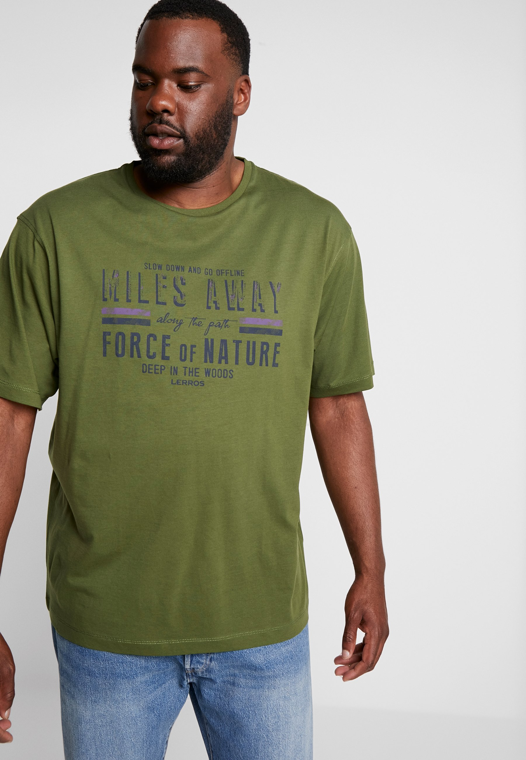 Imprimé Green O Lerros neckT shirt Moss TKF1lJc3