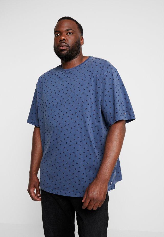 O-NECK - T-shirt print - storm blue