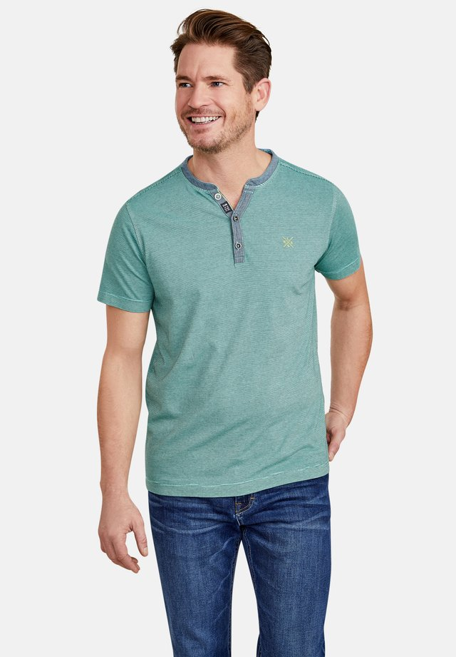 Print T-shirt - jade green
