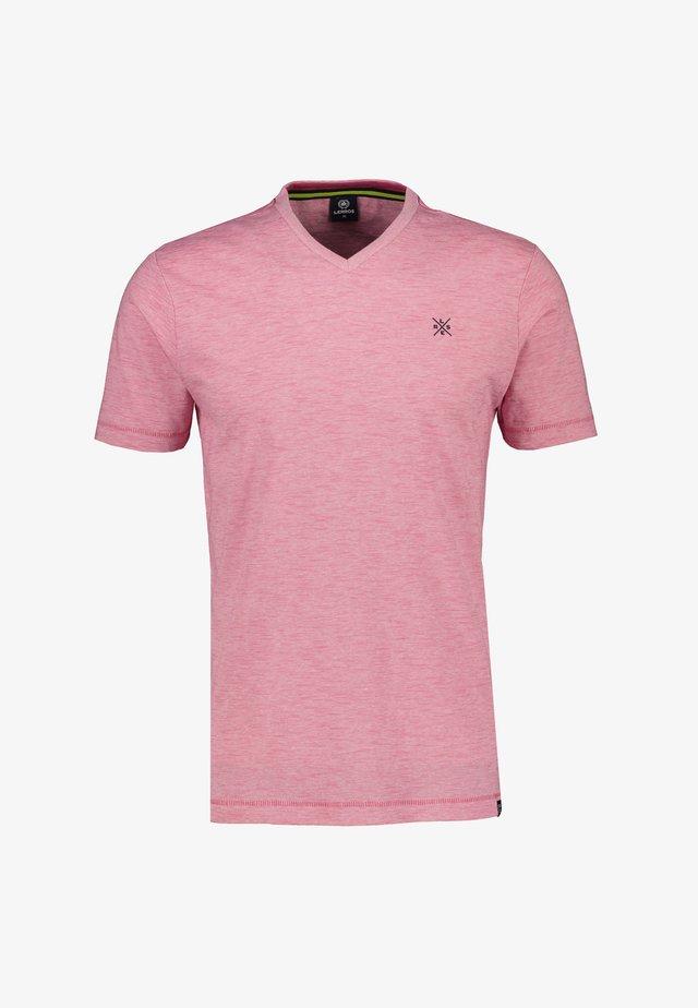 MIT V-AUSSCHNITT - Basic T-shirt - pink