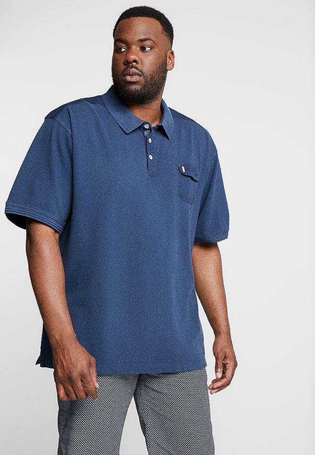 Koszulka polo - vintage blue