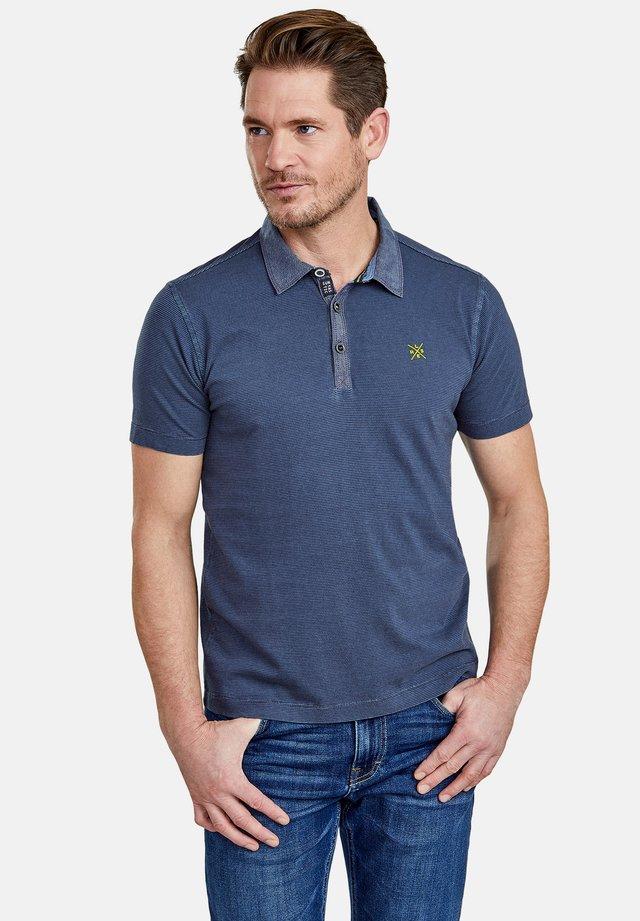 MIT FEINEN QUERSTREIFEN - Polo shirt - vintage blue