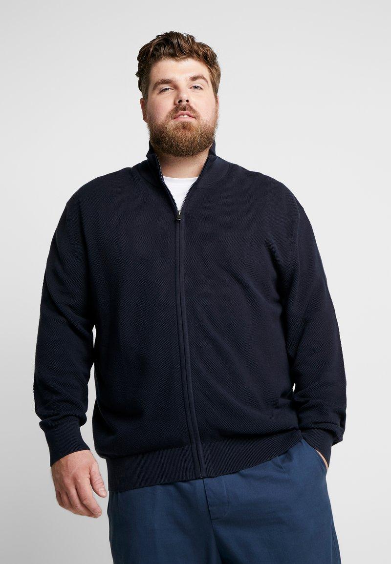 LERROS - JACKET STRUCTURE - Cardigan - navy