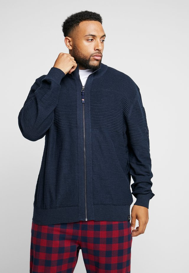 JACKET - Kardigan - navy melange