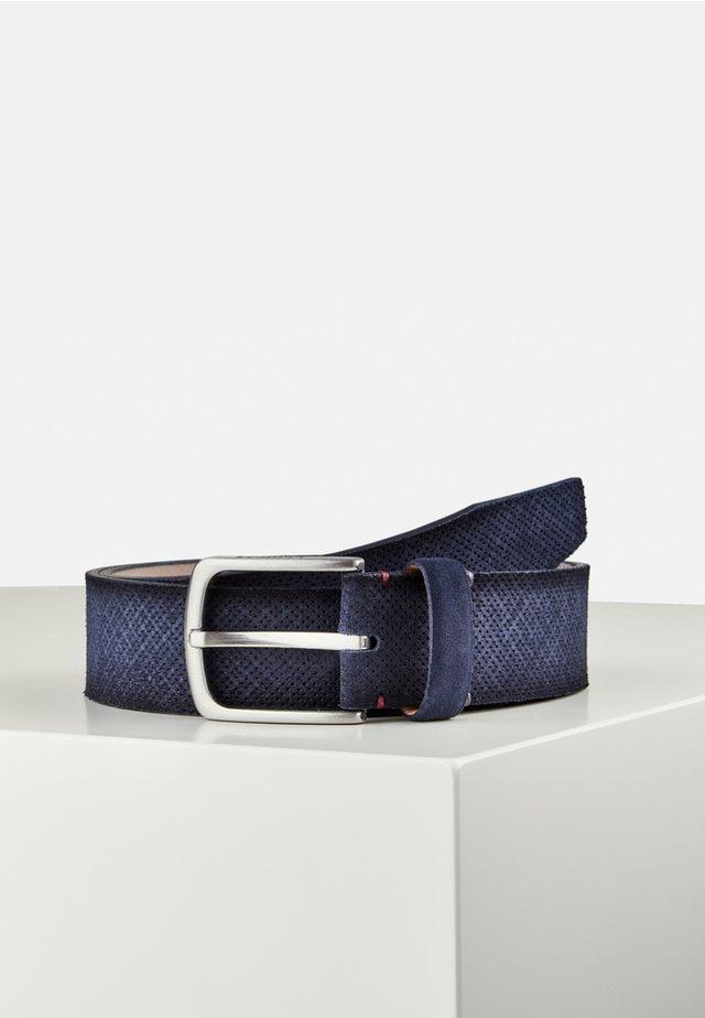 MIT LOCHPRÄGUNG - Belt - blue