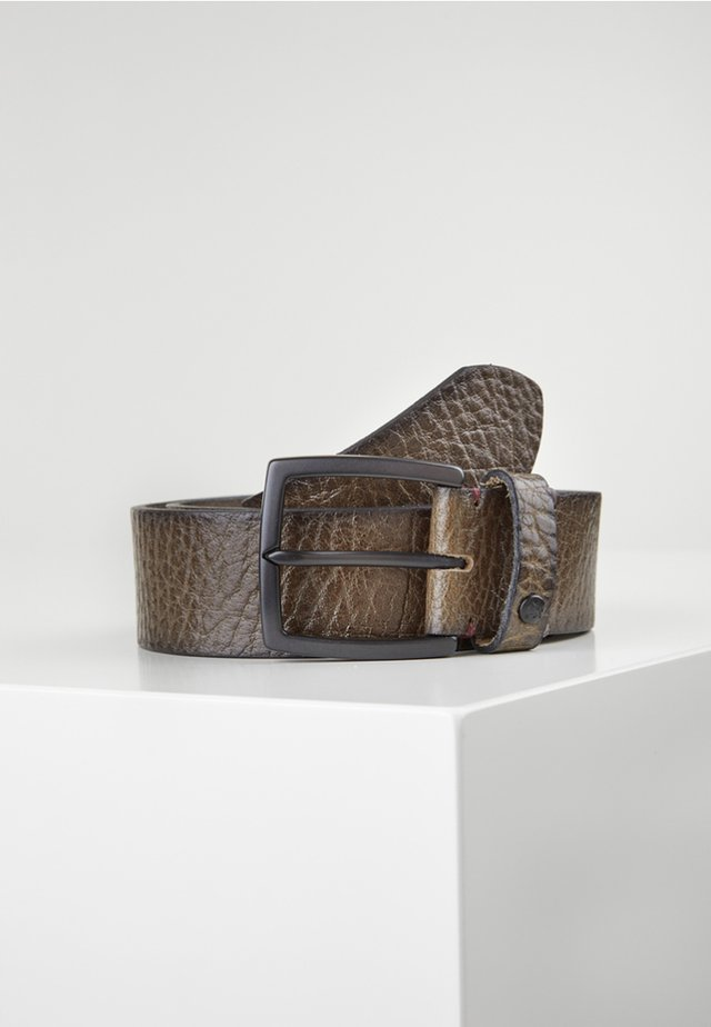 MIT REPTILPRÄGUNG - Belt - dark anthracite