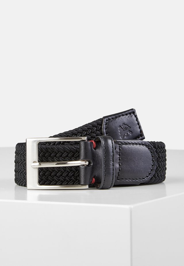 HARVEY - Braided belt - black