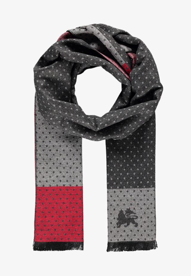 GEOMETRIC PATCHWORK - Scarf -  red
