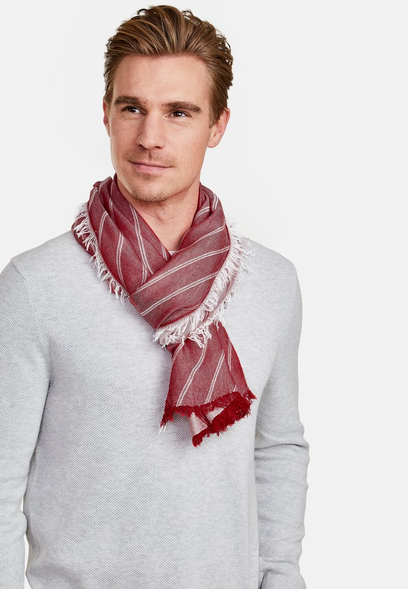 LERROS - MIT STREIFENDESIGN - Scarf - true red