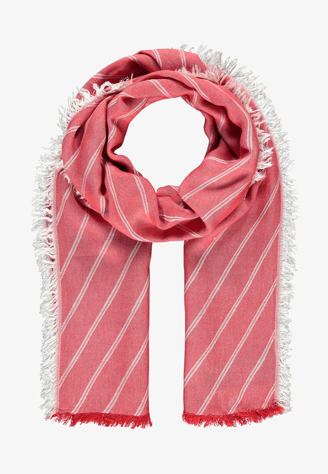 MIT STREIFENDESIGN - Scarf - true red