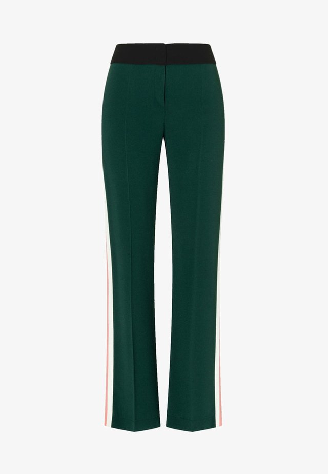 Trousers - dark green / black